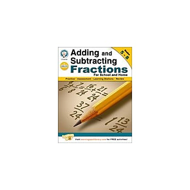 Carson-Dellosa Publishing Adding And Subtracting Fractions By Mark Twain Media Workbook, Grade 5 - Grade 8 [eBook]