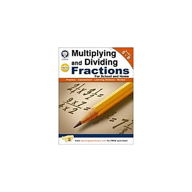 Carson-Dellosa Publishing Multiplying And Dividing Fractions By Mark Twain Media Workbook, Grade 5 - Grade 8 [eBook]