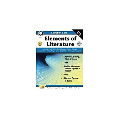 Carson-Dellosa Publishing Common Core: Elements Of Literature Workbook By Armstrong, Linda, Grade 6 - Grade 8 [eBook]