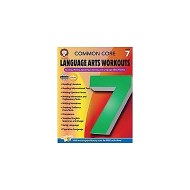 Carson-Dellosa Publishing Common Core Language Arts Workouts, Grade 7 Workbook By Armstrong, Linda, Grade 7 [eBook]