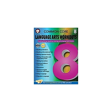 Carson-Dellosa Publishing Common Core Language Arts Workouts, Grade 8 Workbook By Armstrong, Linda, Grade 8 [eBook]