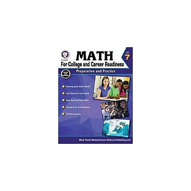 Carson-Dellosa Publishing Math For College And Career Readiness, Grade 7 Workbook By Henderson, Christine, Grade 7 [eBook]
