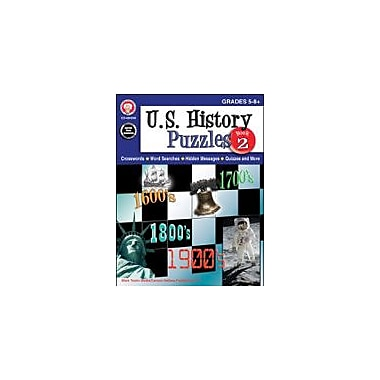 Carson-Dellosa Publishing U.S. History Puzzles, Book 2, Grades 5 - 8 Workbook By Mark Twain, Grade 5 - Grade 8 [eBook]
