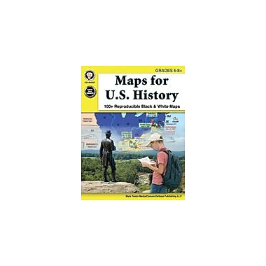 Carson-Dellosa Publishing Maps For U.S. History, Grades 5 - 8 Workbook By Mark Twain, Grade 5 - Grade 8 [eBook]