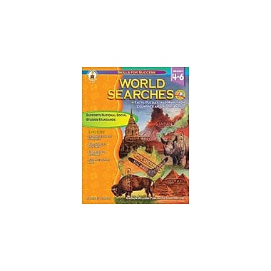 Carson-Dellosa Publishing World Searches Workbook By Pearson, Shirley, Grade 4 - Grade 6 [eBook]