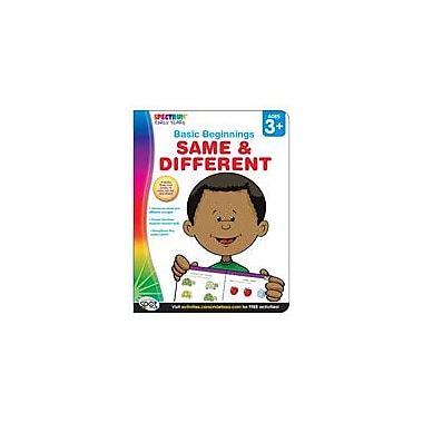 Carson-Dellosa Publishing Spectrum Early Years Basic Beginnings: Same And Different Workbook, Preschool - Kindergarten [eBook]
