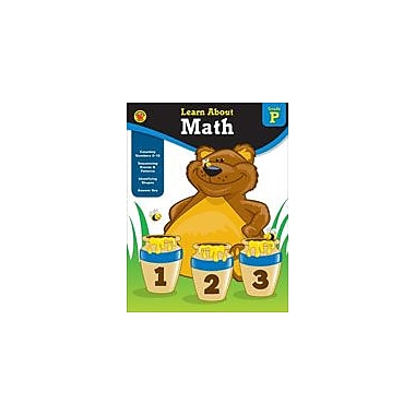 Carson-Dellosa Publishing Learn About Math, Grade PK Workbook By Brighter Child, Preschool [eBook]