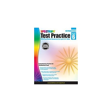 Carson-Dellosa Publishing Spectrum Test Practice, Grade 6 Workbook [eBook]