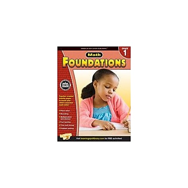 Carson-Dellosa Publishing Math Foundations: Grade 1 Workbook [eBook]