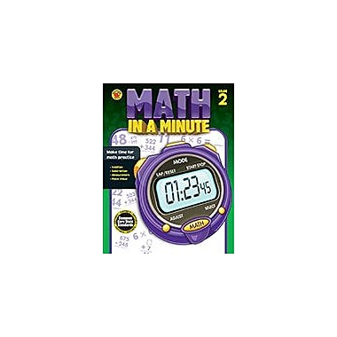 Carson-Dellosa Publishing Math In A Minute Grade 2 Workbook By Brighter Child, Grade 2 [eBook]