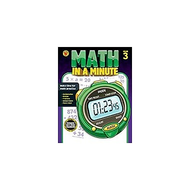 Carson-Dellosa Publishing Math In A Minute Grade 3 Workbook By Brighter Child, Grade 3 [eBook]