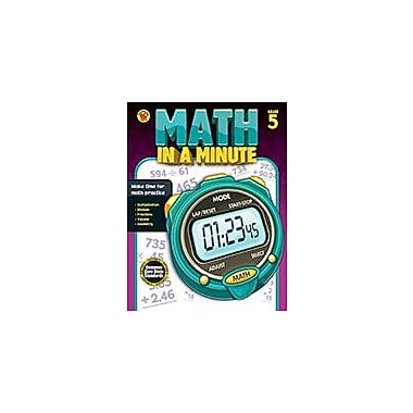 Carson-Dellosa Publishing Math In A Minute Grade 5 Workbook By Brighter Child, Grade 5 [eBook]