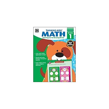 Carson-Dellosa Publishing Thinking Kids Math , Grade 1 Workbook By Brighter Child, Grade 1 [eBook]