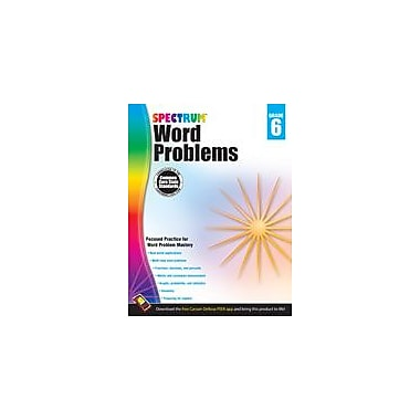 Carson-Dellosa Publishing Word Problems, Grade 6 Workbook [eBook]