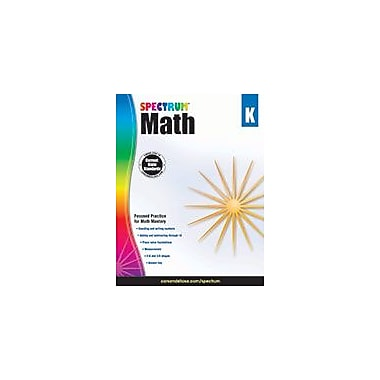 Carson-Dellosa Publishing Spectrum Math, K Workbook, Kindergarten [eBook]