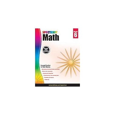 Carson-Dellosa Publishing Spectrum Math, Grade 6 Workbook [eBook]