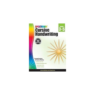 Carson-Dellosa Publishing Spectrum Cursive Handwriting, Grades 3 5 Workbook, Grade 3 - Grade 5 [eBook]