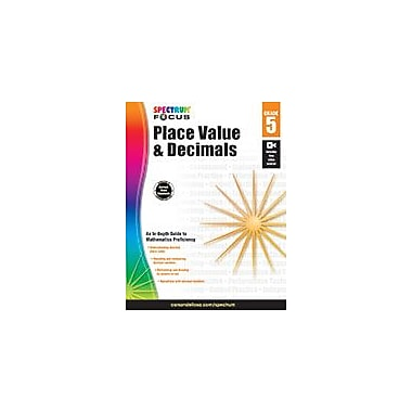 Carson-Dellosa Publishing Spectrum Place Value, Decimals, And Rounding Workbook, Grade 5 [eBook]