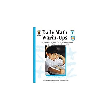 Carson-Dellosa Publishing Daily Math Warm-Ups, Grade 1 Workbook By Owen, M. J., Grade 1 [eBook]