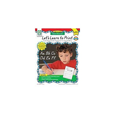 Carson-Dellosa Publishing Let's Learn To Print: Modern Manuscript Workbook By Flora, Sherrill B., Preschool - Grade 2 [eBook]