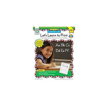 Carson-Dellosa Publishing Let's Learn To Print: Traditional Manuscript Workbook, Preschool - Grade 2 [eBook]
