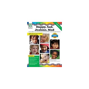 Carson-Dellosa Publishing Happy, Sad, Jealous, Mad Workbook By Browning-Wroe, Jo, Preschool - Grade 1 [eBook]
