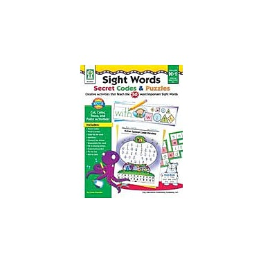 Carson-Dellosa Publishing Sight Words Secret Codes And Puzzles Workbook By Flora, S., Kindergarten - Grade 3 [eBook]