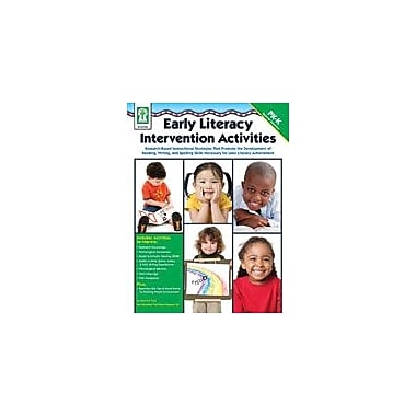 Carson-Dellosa Publishing Early Literacy Intervention Activities Workbook, Preschool - Kindergarten [eBook]