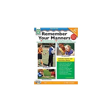 Carson-Dellosa Publishing Remember Your Manners Workbook By Browning-Wroe, Jo, Preschool - Grade 2 [eBook]