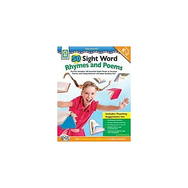 Carson-Dellosa Publishing 50 Sight Word Rhymes And Poems Workbook By Browning-Wroe, Jo, Kindergarten - Grade 2 [eBook]