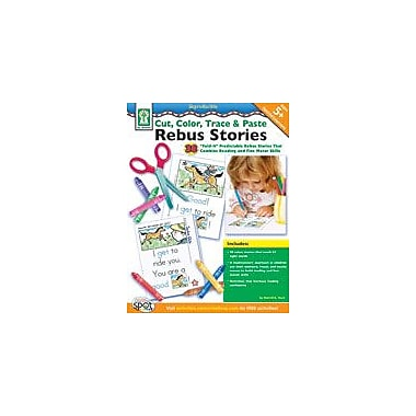 Carson-Dellosa Publishing Cut, Color, Trace & Paste Rebus Stories Workbook By Flora, Sherrill B., Preschool - Grade 2 [eBook]