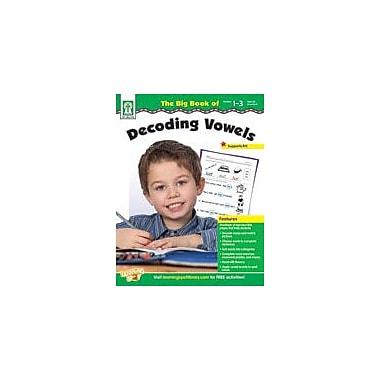 Carson-Dellosa Publishing The Big Book Of Decoding Vowels Workbook By Zeitzoff, Helen, Grade 1 - Grade 3 [eBook]