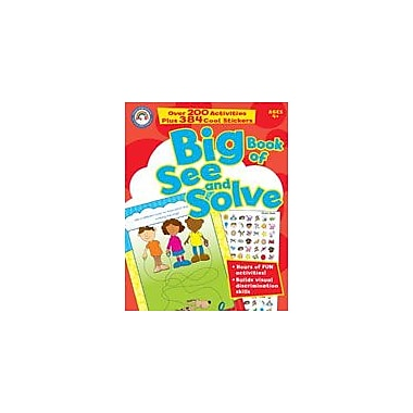 Carson-Dellosa Publishing Big Book Of See And Solve Workbook By Small World, Preschool - Grade 1 [eBook]