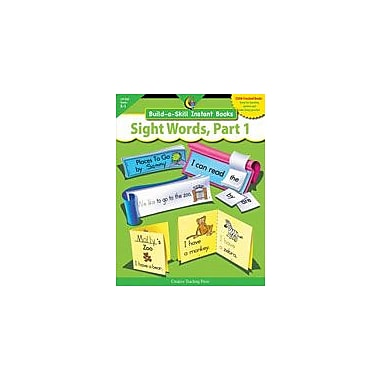 Creative Teaching Press Sight Words Part 1, Build-A-Skill Instant Books Workbook [eBook]