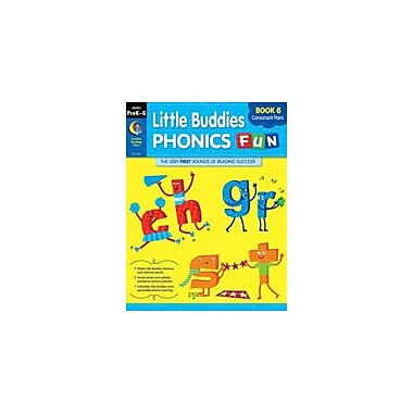 Creative Teaching Press Little Buddies Phonics Fun, Book 6: Consonant Pairs Workbook, Preschool - Grade 2 [eBook]