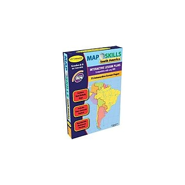 Lorenz Educational Press Map Skills: South America Workbook By Ashworth, Jessica, Grade 6 - Grade 8 [eBook]