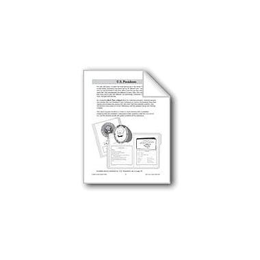 Evan-Moor Educational Publishers U.S. Presidents File Folder Report Workbook, Grade 3 - Grade 6 [eBook]