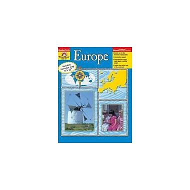 Evan-Moor Educational Publishers Geography Units, Europe Workbook, Grade 3 - Grade 6 [Enhanced eBook]