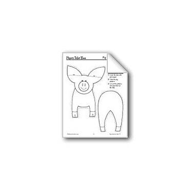 Evan-Moor Educational Publishers Pig Paper Tube Animal Workbook, Preschool - Grade 3 [eBook]