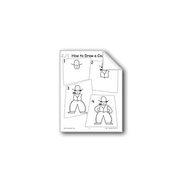 Evan-Moor Educational Publishers Cowboy (Draw Then Write) Workbook, Grade 3 - Grade 6 [eBook]