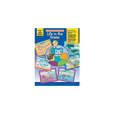 Evan-Moor Educational Publishers Science Picture Cards, Life In The Ocean Workbook, Grade 1 - Grade 3 [Enhanced eBook]