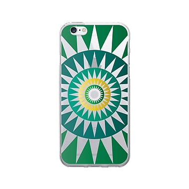 OTM Prints Clear Phone Case, Sun Dial Green - iPhone 6/6S Plus