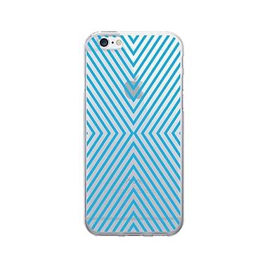 OTM Prints Clear Phone Case, Striped Blue - iPhone 6/6S Plus
