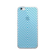 OTM Prints Clear Phone Case, Striped Blue - iPhone 6/6S