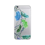 OTM Prints Clear Phone Case, Dancing Feathers Green - iPhone 6/6S Plus