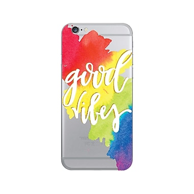 OTM Prints Clear Phone Case, Good Vibes Rainbow - iPhone 6/6S Plus
