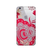 OTM Prints Clear Phone Case, Paisley Red - iPhone 6 Plus