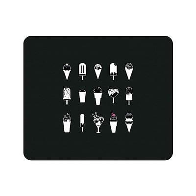 OTM Prints Black Mouse Pad, Ice Cream Delight