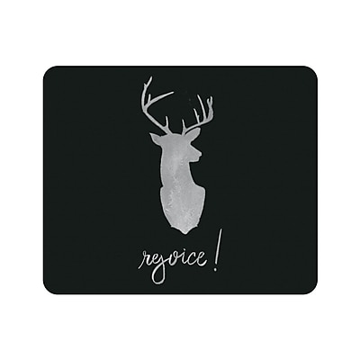 OTM Prints Black Mouse Pad, Stag