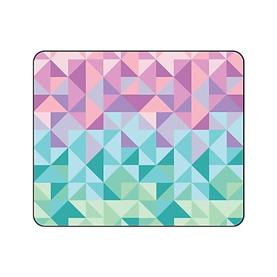 OTM Prints Black Mouse Pad, Geo Triangle Pastels